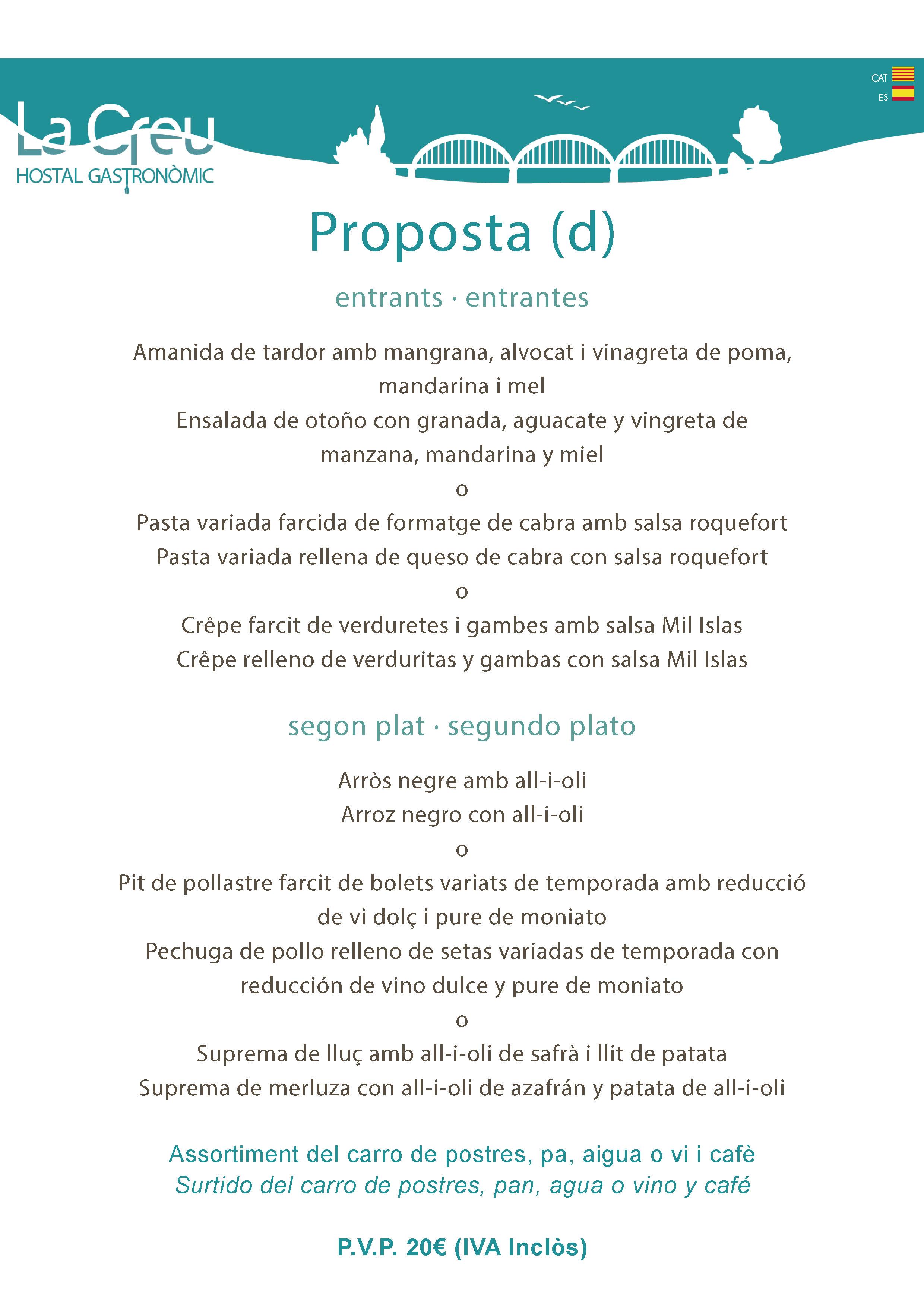 menu empresa