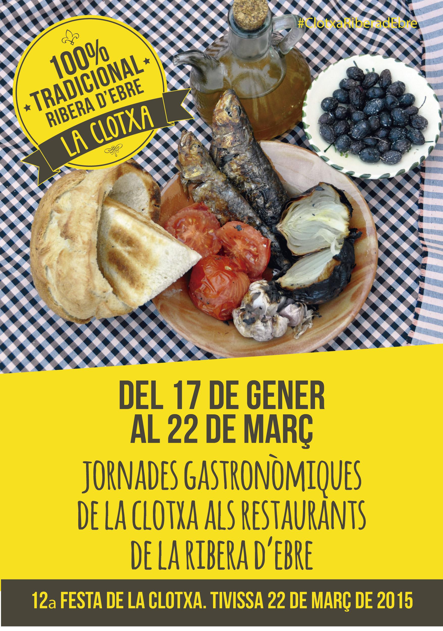 cartell jornades gastronomiques clotxa ribera ebre 2015-01